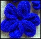 Machine Knit Flowers