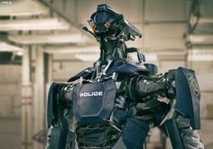 Police Bot, Vitaly Lesnykh on ArtStation at https://www.artstation.com/artwork/police-bot-77c1c646-f34d-40db-8bc0-8a78253e2a85