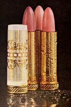 Clairol 'Flicker Stick' Lip Gloss, 1965. Pretty colors. Nice tube. Looks more expensive than it was. The era of the most beautiful make-up.