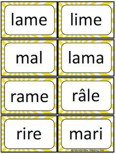 Lecture de mots - jeu d'association mots/images 1 - LaCatalane