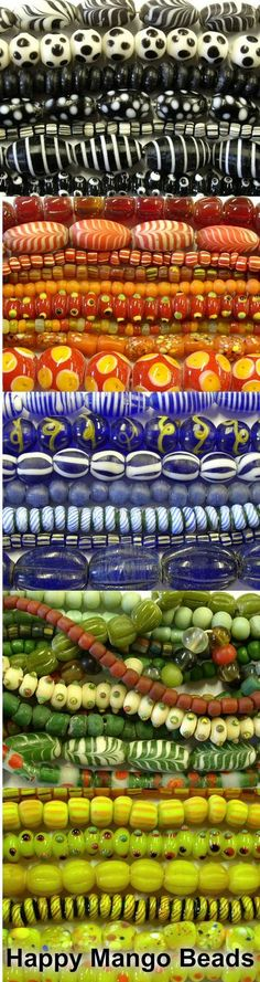 We've added a huge new selection of handcrafted Indonesian Glass Beads to our webstore!  See what's new and save 20% here: http://www.happymangobeads.com/colorful_glass_beads_indonesia.aspx