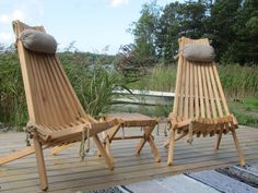 NorDeck chairs by the sea.