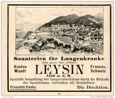 Original-Werbung/Inserat/ Anzeige 1903 - LEYSIN / SCHWEIZ ca. 90 x 80 mm