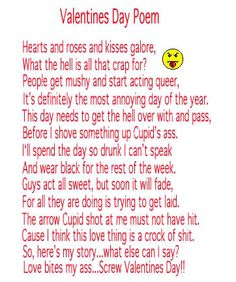 anti valentines day poems 2011