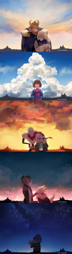 I DONT SHIP ASGORE AND GOAT MAMMA, but this fan art is good.