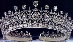 Tiara Mania: Fife Tiara. This tiara was probably designed by Oscar Massin because it is almost exactly like his tiara for the Exposition Universelle of 1878 in Paris. The only difference being the shape of some of the diamonds. Diamonds mounted in gold and set in silver, the pear-shaped diamonds in the middle move freely.
