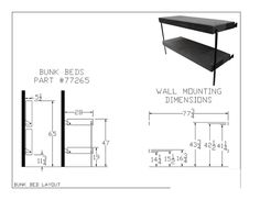 Folding Bunk Bed 77265(MOD)