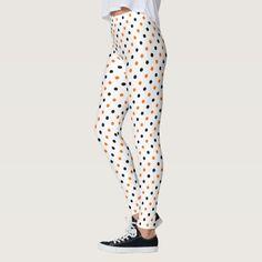 polka dots dotty halloween pattern leggings #halloween #holiday #creepyhollow #women #womensclothing
