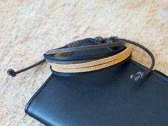 Bracciale in vera pelle uomo donna leather bracelet idea regalo MADE IN ITALY di RecordModa su Etsy
