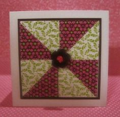 GinaK Designs Pinwheel Quilt by scrappykat - Cards and Paper Crafts at Splitcoaststampers