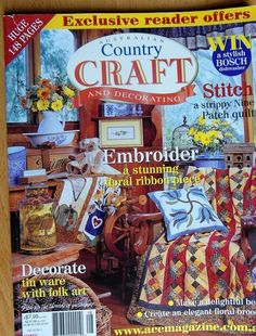 Country Craft and Decorating volume 14 no.1 Decorate tin ware with folk Art mag #CountryCraftandDecorating