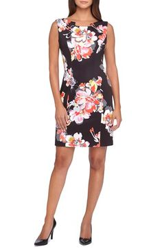 Tahari Floral Print Scuba Sheath Dress (Regular & Petite) available at #Nordstrom