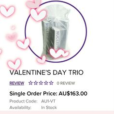 Get the perfect valentines gift this valentines day with 1 Rejuvenating Barrier, 1 Advanced Exfoliator, and 1 Body Silk all in an organza bag 😍❤ www.buynucerity.com/kahladawson