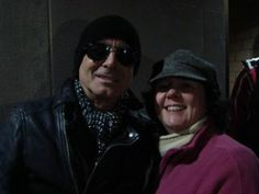 Robin Zander of Cheap Trick...again!  February 16, 2014, Lynn, MA:  It was freezing cold and he was so nice to stay and chat with fans after the show.  #RobinZander #CheapTrick