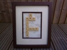 Personalised scrabble art,any design(weddings,births,christenings,xmas)FAB GIFTS £21.00
