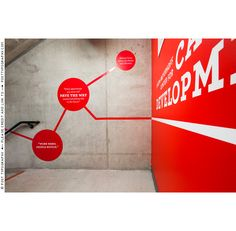 Stairwell and environmental graphics for MICA Career Development. Red dots, quotes, wall vinyl, super graphics, design, branding, wayfinding (5)