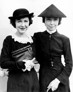 f7f91eca83b Silent film stars (and sisters) Dorothy Gish and Lillian Gish in Paris