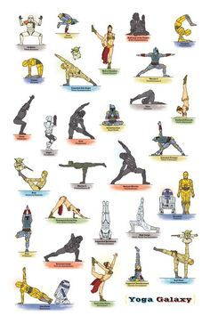 Star Wars Yoga is Within Us What is the force of Star Wars Yoga? The Force is what gives Star Wars Yoga its power. Yoga Humor, Yoga Meme, Funny Yoga, Theme Star Wars, Star Wars Art, Yoga Series, Chico Yoga, Yoga Poses Chart, Star Wars Personajes