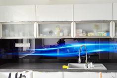 Sklenená kuchynská zástena LKZ - 029