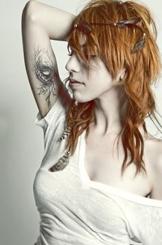 bird nest tattoo. Love the placement