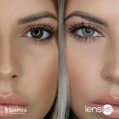 Solotica Solflex Quartzo with nuances of bluegray and yellow is one of the most popular colors Eye Lens Colour, Eye Color, Best Colored Contacts, Lens Store, Dark Brown Eyes, Makeup Forever, Bronzer, Insta Makeup, Makeup Junkie