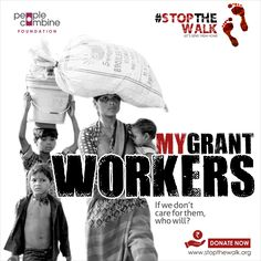 We are proud to have partnered with People Combine Group for a cause that we believe in. Presenting #StopTheWalk, the effort of People Combine, What's In a Name Creatives, and so Volunteers who are selflessly working hard every minute to help the Migrant Workers reach home.  We urge you all to do your bit to donate as much as you can. No amount is small. So, please share this post to reach out to as many people as possible. Help us reach more people. Migrant Worker, Donate Now, Working Hard, Volunteers, Effort, Let It Be, Group, Creative, People