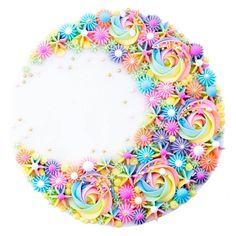 A moon shape made out of pastel rainbow buttercream swirls cake - Rainbow birthday cake - Wilton Cakes, Cupcake Cakes, 3d Cakes, Fondant Cakes, Pretty Cakes, Cute Cakes, Beautiful Cakes, Wilton Cake Decorating, Birthday Cakes