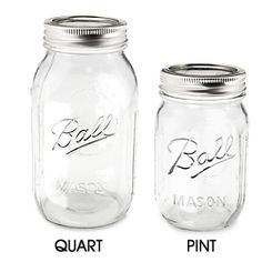Canning Jars, Mason Jars & Ball Jars in Stock - ULINE..around $1.05 each.. discount to under $1 in cases.