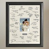 instead of a guest book, have them sign the mat around a picture!