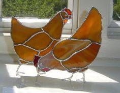 Pair Caramel Chickens