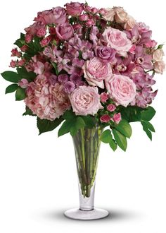 A La Mode Bouquet with Long Stemmed Roses. Beautiful!