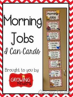 Help students master morning routines with these simple I Can Cards for morning jobs! Kindergarten First Day, Kindergarten Classroom, School Classroom, Kindergarten Routines, Classroom Ideas, Classroom Design, Future Classroom, Classroom Morning Routine, School Routines