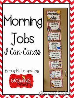 Morning jobs - visual checklist