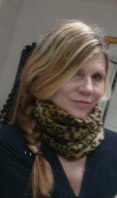 Fleece leopard print neck warmer or hat. May be worn either way. http://www.etsy.com/shop/CSTUDIOLagunaBeach