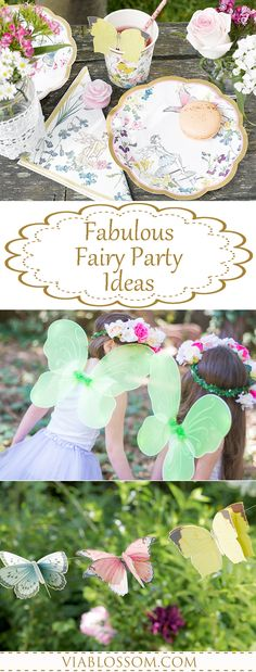 Fabulous Fairy Party Ideas for a whimsical and magical Fairy Party!! All the Fairy Decorations you will need for a Girl Birthday Party!