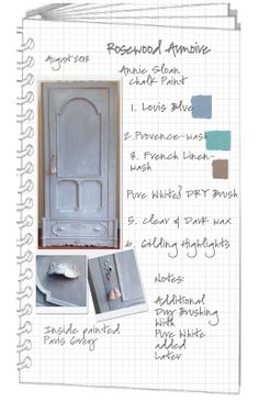 COLORWAYS   Project Journal  Step by Step Process Armoire in Annie Soan Chalk Paint