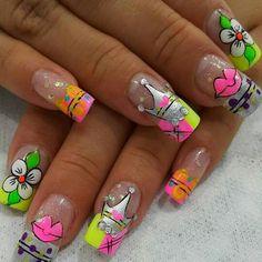 Fun Nails, Manicure, Nail Designs, Geek Stuff, Nail Art, Beauty, Hair, Nail Ideas, Bed