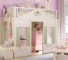 pottery-barn-kids-bunk-beds-with-rattan-basket.jpg (800×706)