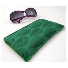 Sunglasses Cover Available in Purple Floral or Green Leaves Party... (€4,76) ❤ liked on Polyvore featuring accessories, eyewear and sunglasses