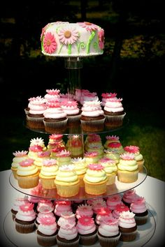 Cupcakes are becoming a popular way to avoid the hassle of cutting/portioning a wedding cake