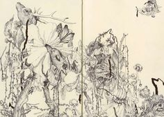 Deathly Forest Art -James Jean Sketches.