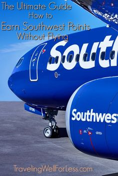 Did you know you can earn Southwest points without flying? Here's the ultimate guide on how to earn Southwest points without flying. Best Travel Credit Cards, Travel Cards, Budget Travel, Travel Tips, Travel Ideas, Fly Travel, Credit Card Points, Point Hacks, Southwest Airlines