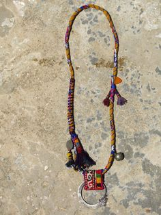 Ethnic necklace with a hmong earring and uzbek by EthnicTree