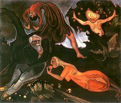 Stanisław Ignacy Witkiewicz, The Temptation of St. Anthony, 1916 by kraftgenie on Flickr.