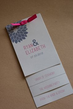 This listing is for 100 layered wedding programs printed on soft white cardstock. The price includes design time, unlimited revisions, Wedding Paper, Wedding Cards, Our Wedding, Dream Wedding, Ceremony Programs, Wedding Programs, Wedding Invitations, Wedding Program Examples, Stationery Paper