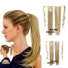 Manera de Las Mujeres Clip En cola de Caballo Pony Tail Hair Extension Wrap En Pedazo Del Pelo Accesorios YF2017
