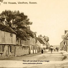 Westham East Sussex near Eastbourne circa 1900 from an old postcard. East Sussex, Old Postcards, Over The Years, Battle, England, Victorian, Places, Painting, Art