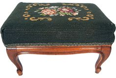 Antique Needlepoint Footstools   ... Products > Antique needlepoint footstool SOLD but more on my website