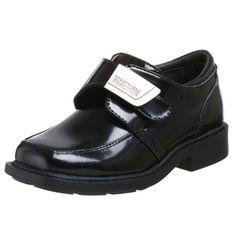 Kenneth Cole Reaction Boys fast cash 2 Buckle, Black, Size Little Kid Leather School Shoes, Black Leather Sneakers, Slip On Sneakers, Boys Dress Shoes, Boy Shoes, Boys School Shoes, Boys Loafers, Toddler Shoes, Clarks