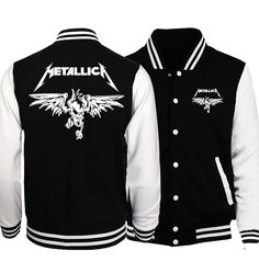 >> Click to Buy << 2017 Spring Rock Band Metallica Jacket Men Streetwear Parental Advisory Explicit Content Print Men Coat Baseball Uniform Jackets #Affiliate